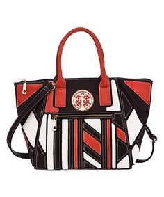 Another great find on #zulily! Red Color Block Tote #zulilyfinds