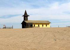 The Topnaar church at Roobank near Walvis bay..Namibia