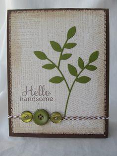 Crafty Girl Designs: Masculine Lorelai Leaf Card!