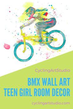 party poster gift prints Bmx backflip wallart bedroom print posters art