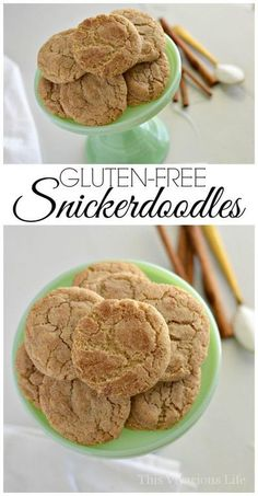 These gluten-free snickerdoodles are the BEST! They are soft, chewy and so delicious that nobody would ever know they are gluten-free!   gluten-free holiday cookies   gluten-free christmas cookies   gluten-free cookie recipes   gluten-free snickerdoodle c Gluten Free Christmas Cookies, Gluten Free Sugar Cookies, Gluten Free Cookie Recipes, Gluten Free Chocolate Chip Cookies, Healthy Cookie Recipes, Gluten Free Desserts, Holiday Cookies, Free Recipes, Dessert Recipes