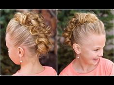 Messy Bun Hawk...great for dance or athletics and hold forever!  I wear it as an adult to when I want to feel edgy :) #CGHMessyBunHawk #cutegirlshairstyles #hairstyles #hairstyle #bunhawk #dancehairstyles