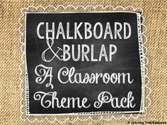 This 200+ page {EDITABLE} packet is full of chalkboard and burlap themed resources to help you turn blank walls into the cutest room on campus!Included in this pack...EDITABLE PowerPoint Resources (16 pages):*Welcome Personalized Door Sign*Small Round Labels *Medium Round Labels *Large Round Labels *Large Desk Nameplates (2 designs)*Small Cubby Nameplates *Small Square Labels *Large Rectangle Labels *Personalized Student Binder Cover & SpinesPrint-n-go PDF Resources (186 pages):*Testing ...
