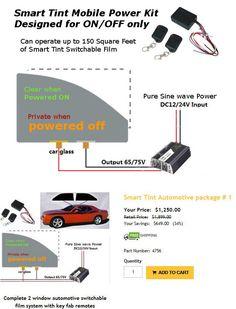 Black Electrochromic Smart Film For Car Window Tint Film