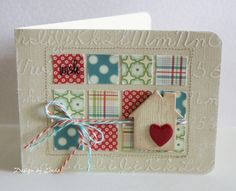 Use paper scraps to make this cute card by Linda Beeson. October Afternoon paper,