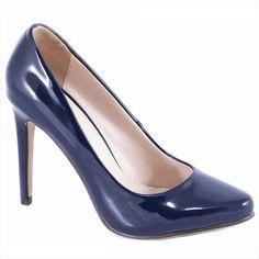 Pantofi navy cu toc 51598N - Reducere 60% - Zibra Stiletto Heels, Pumps, Navy, Shoes, Fashion, Hale Navy, Moda, Zapatos, Shoes Outlet