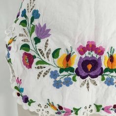 Vintage Embroidered Apron Super sweet waist apron. Colorful embroidery against a white cotton. Pictured on size 8 dress form Vintage Other