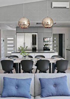 Glamour löysi tiensä Seinäjoen Asuntomessujen 2016 sisustuksiin. Katso 8 mielenkiintoista ratkaisua. Kitchen Dining, Kitchen Decor, Dining Room, Ideal Home, Sweet Home, Loft, Interior Design, Modern, Table
