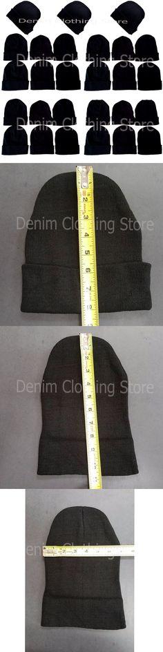 Mixed Lots 45057: 1-20 Dozens Wholesale Lot Black Beanie Knit Ski Cap Skull Cuff Winter Hats Lots -> BUY IT NOW ONLY: $265 on eBay!