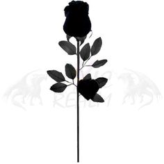 Single Stem Rose Black Feather Rose 5592 Valentine Gothic Wedding... ❤ liked on Polyvore featuring home, home decor, flowers, filler, other, rose home decor, floral home decor and black home decor