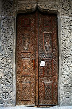 Doorssssssss of the oldest church, Bucharest, Romania / by Himanshu Sachdeva