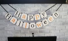 Happy Halloween Banner/Halloween by HeartandSoulBanners on Etsy, $28.00