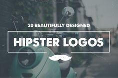 20 Hipster Logo Templates #bigbundle #graphicbundle #customfonts #logos