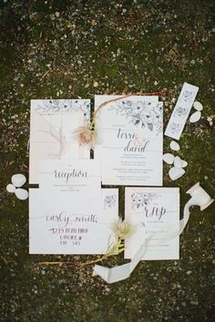 Image by Genevieve Renee Photography Colour Schemes, Custom Invitations, Paper Goods, Our Wedding, Wedding Ideas, Wedding Stationery, Reception, Place Card Holders, This Or That Questions