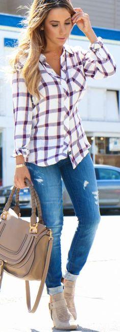 Ryanbyryanchua Check Flannel Button-up Fall Streetsyle Inspo