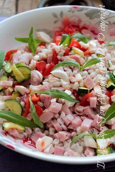 Orzo perlato insalata fredda zucchine e prosciutto ricetta il mio saper fare