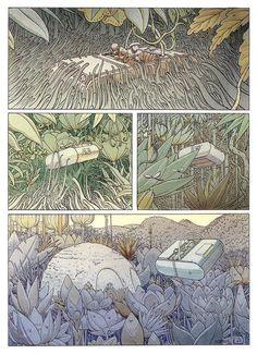 La Planète Encore (Another Planet) Jean Giraud, Comic Book Artists, Comic Artist, Comic Books Art, Fantasy Comics, Fantasy Art, Moebius Art, Science Fiction, Comic Layout