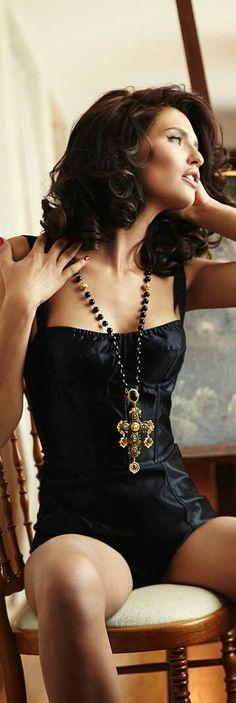 Black Lingerie... Bianca Balti for Dolce & Gabbana