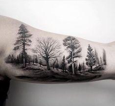 Wald Tattoo 45 Inspirierende Wald TattooBack To 21 Wald TattooWald Tattoos Und Waldbilder Wald Tattoo, Delectable Ideas Wald Tattoo 85 Negative Space Tattoo Motive Mit Pros Und Cons Dafür. Tattoos Arm Mann, Inner Arm Tattoos, Arm Tattoos For Guys, Body Art Tattoos, Cool Tattoos, Tatoos, Tree Sleeve Tattoo, Back Tattoo, Sleeve Tattoos