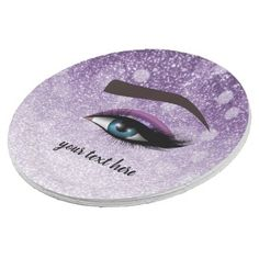 Purple glam lashes eyes   makeup artist paper plate - makeup artist gifts style stylish unique custom stylist