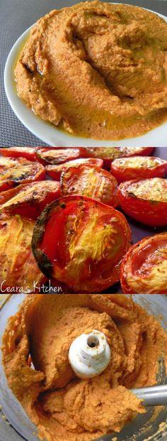 Roasted tomato hummus.