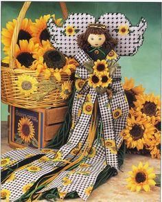 Sunflower Angel Plastic Canvas Pattern by needlecraftsupershop, $3.50