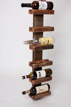 Reclaimed Wood Wine Rack by NorthwestReclaimed on Etsy