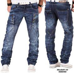 Kosmo Lupo Men's Jeans Pants Denim Japan Style Double Cargo Clubwear ...