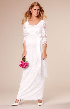 9bd156a527 Katie Maternity Wedding Gown Long Ivory by Tiffany Rose