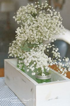 French canning jar and baby's breath...