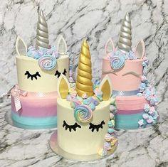 Unicorn cakes I'm obsessed Birthday Cake Girls, Unicorn Birthday Parties, Birthday Cakes, Unicorn Cake Topper, Unicorn Cakes, Unicorn Head, Rainbow Unicorn, Pretty Cakes, Cute Cakes