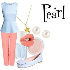 Casual cosplay for Pearl from Steven Universe { Polyvore: my-special-maple-hockey } but again, minus the star necklace.