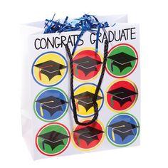 Congrats Graduate Gift Bag - Perfect bag for Kindergarten or Preschool graduation. Kindergarten Graduation Gift, Kindergarten Gifts, Big Day, Presents, Bags, Handbags, Gifts, Totes, Lv Bags