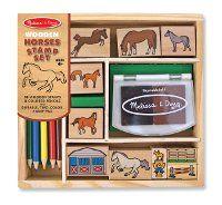 Horse Stamp Set for kids