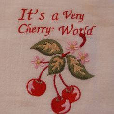 i'm cherritti ♡ ♡ ♡ ♡ ♡ ♡ ♡ ♡ ♡ ♡ cherry cloth pink red green its a very cherry world cherryblossom cereza tela rosa rojo verde aesthetic Diy Broderie, Born To Die, Cheryl Blossom, Red Aesthetic, Wall Collage, Thing 1, Ideias Fashion, Kitsch, Valentines