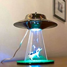 Alien Abduction Cow Lamp