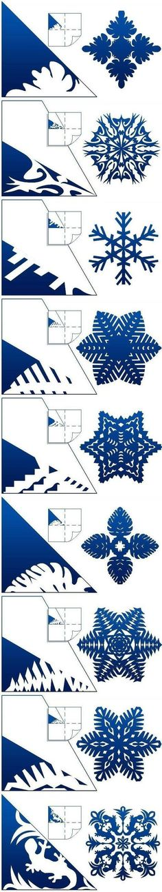 Diy Schemes Of Paper Snowflakes.