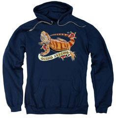 Reptile Sweatshirt featuring the drawing Going Strong Bearded Dragon by Donovan Winterberg