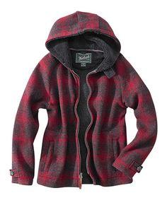 Red Plaid Acorn Hill Wool-Blend Jacket - Women #zulily #zulilyfinds