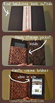 diy kindle fire cover protector- would be cool...if I had a Kindle!