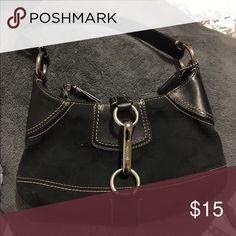 Small Coach handbag Small black coach bag. Zippers. Coach Bags Mini Bags
