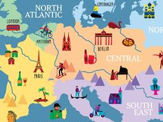 The New York Times, 36 Hours: 125 Weekends in Europe; illustration by Olimpia Zagnoli      The European editions of the New York Times '...