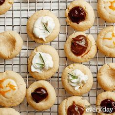 Vanilla Thumbprint Cookies with Rose-Merry Filling