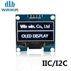 "1 STKS 1.3 ""OLED module wit kleur 128X64 1.3 inch OLED LCD LED Display Module 1.3"" IIC I2C Communiceren"