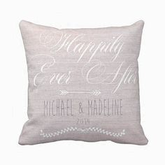 Personalized Happily Ever After Wedding Pillow by JolieMarche, $35.00