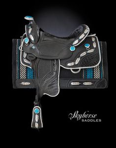 Black Feather Saddle by Skyhorse Saddles...OH MY! I love this!