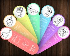 Puffin Rock Happy Birthday 7 Coloring Bookmarks DIY Party Favors Printable Instant Download Digital PDF JPEG INSTANT PRINTABLE BOOKMARKS – OUTLINE VERSION Welcome to Printables Baby! This list will give you a printable set of 7 bookmarks with...
