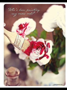 Painting the roses red! Via Molly Makes
