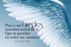 Pues a sus ángeles mandará acerca de ti, que te guarden en todos tus caminos (Salmos 91:11)