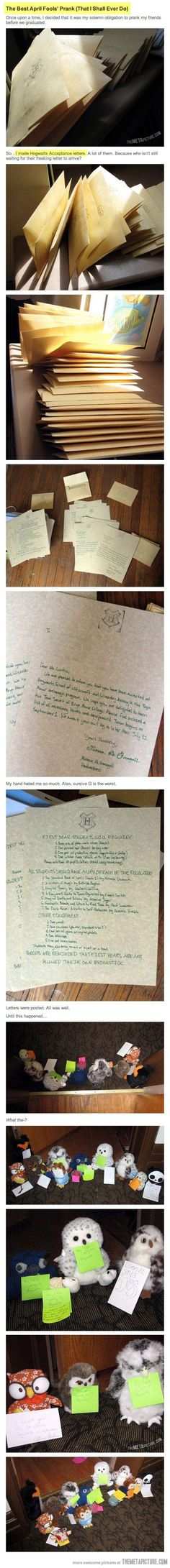I am not a Harry Potter fan, but I know the basic storylines and even I can appreciate this.  Harry Potter and the Prisoner of Prankskaban…